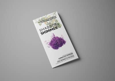 Shabbos Shimmer Brochure Design